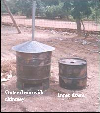 charcoal briquetting drum