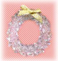 bead crystal wreath