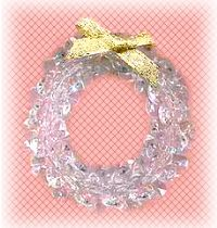 bead crystal wreath