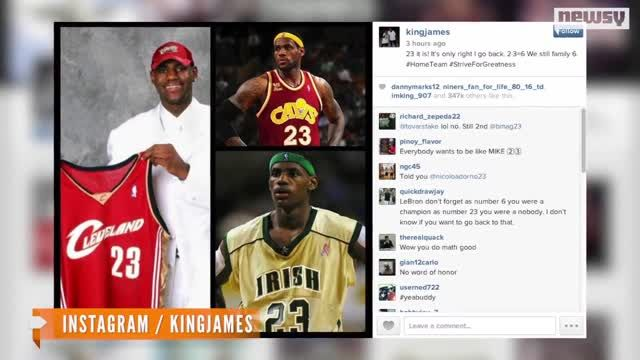 VIDEO: Will LeBron James Lose Jersey Sales By Choosing No. 23? 1