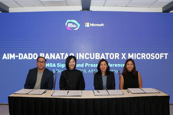Microsoft Philippines links up with AIM incubator to boost local startups' tech capabilities 1
