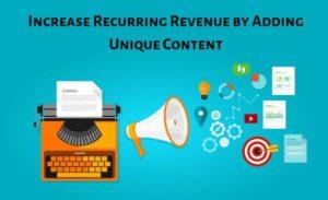 increase recurring revenue