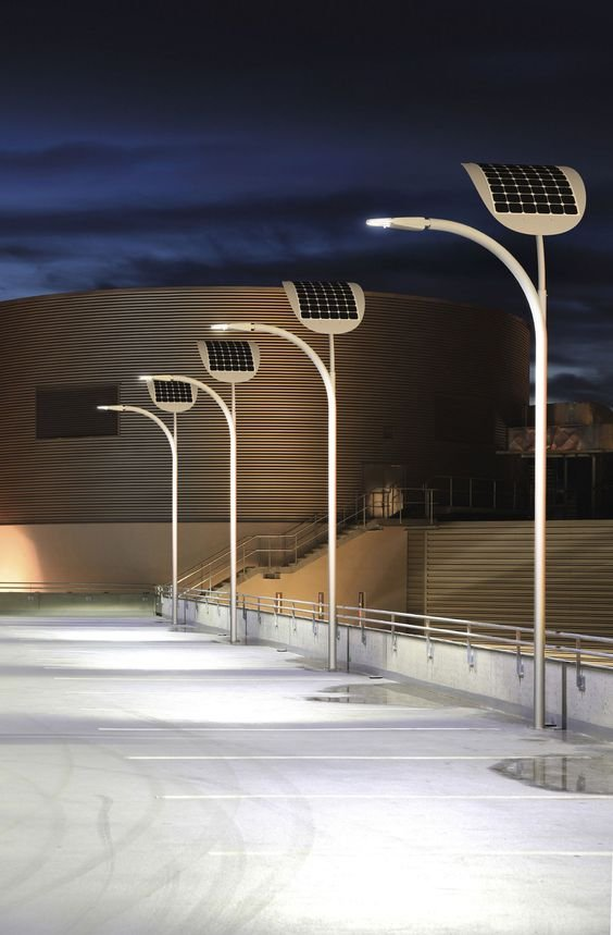 solar-powered street lighting