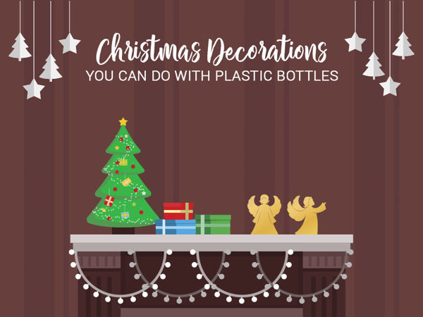 3 Christmas Decorations You Can Do With Plastic Bottles 1