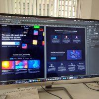 web design grey flat screen computer monitor
