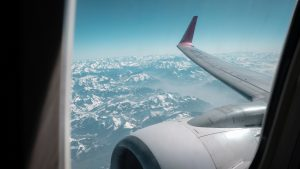 private air charters window plane view