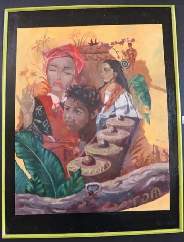 "The ""Kultura mo, Bayan ko"" painted by Arjen"