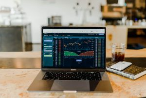 trading career turned-on MacBook Pro