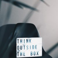 visual content think outside the box