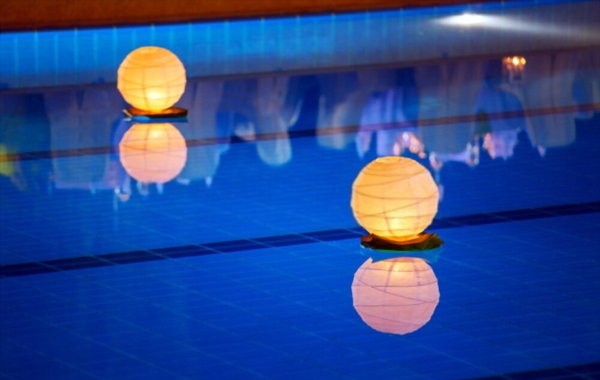 pool lighting side