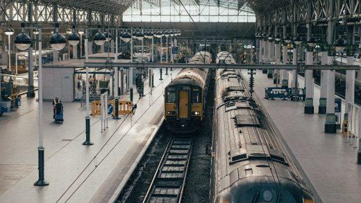 train travel photo of train station