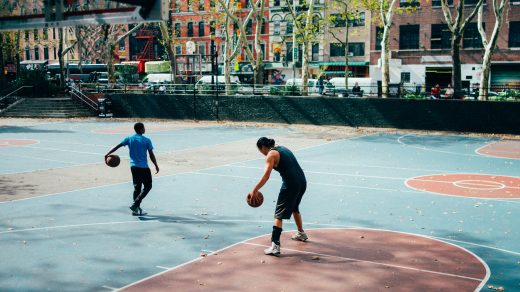 Basketball passing drills man in black shirt and black pants playing basketball during daytime