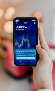 cryptocurrency exchange turned-on Android smartphone