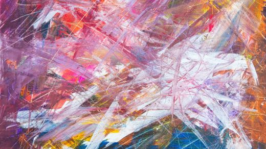 Studying Graphic Arts multicolored scratch abstract painting