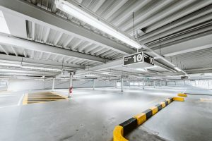 carport business yellow and white metal pipe