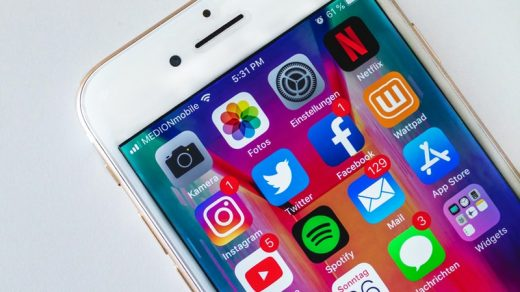 Social Media Marketing Trends turned on gold iphone 6