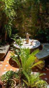 turkish tea set on outdoor table during daytime