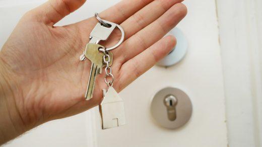 Smart Locks keys on hand