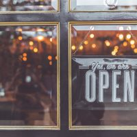 Tips for Starting open signage on door