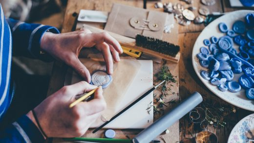 craft business- person doing handcrafts