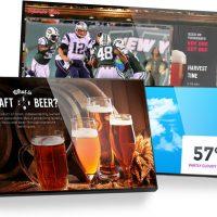 Social Media with Bar Digital Signage